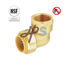 NSF Brass Push Fit Fnpt Elbow Connect Lead Free Coupling